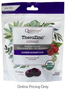 Quantum Health TheraZinc Elder Raspberry Lozenges 18loz