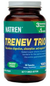 Natren Trenev Trio Dairy Free 60caps