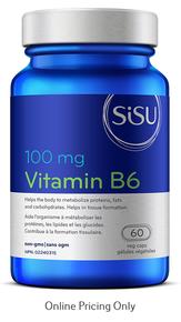 Sisu Vitamin B6 100mg 60caps