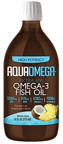 Aquaomega Omega-3 Fish Oil Tropical 225ml