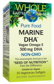 Natural Factors Whole Earth and Sea Marine DHA 30vsg