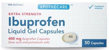 Apothecare Ibuprofen XST 400mg 50caps