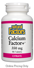 Natural Factors Calcium Factor Plus 350mg 90tabs