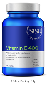 Sisu Vitamin E 400IU 180softgels