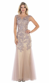 angelic hand embroidered mesh material red carpet gown - image 1