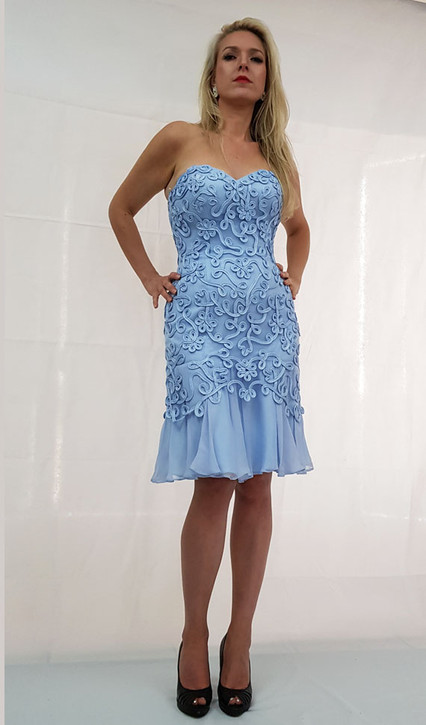 Image 1 - Strapless Cocktail Party Dress Style E403
