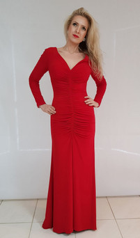 Style E501 Red Evening Dress Image View 2