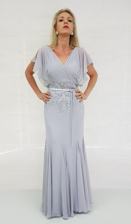 Style EB500 3 Formal Evening Mother Dress with Sleeves Image View 1