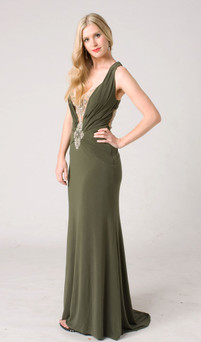 STYLE E104 FORMAL EVENING DRESS IMAGE VIEW 1