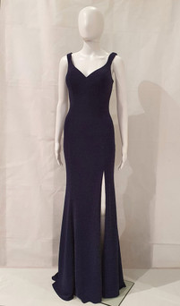 Image 1 - Navy shimmer evening dress style EV58