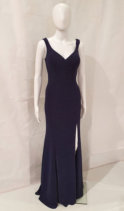 Image 2 - Navy shimmer evening dress style EV58