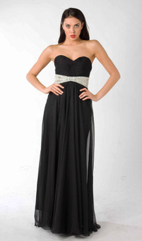 Style E322 Empire Waist Formal Dress Image View 1