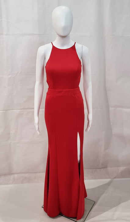 FORMAL GOWN WITH SIDE SPLIT AND SEMI-OPEN BACK - IMAGE 2