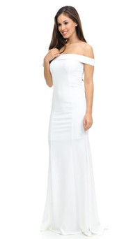 Stretch Jersey Off Shoulder Formal Gown Style ES223 - IMAGE 1