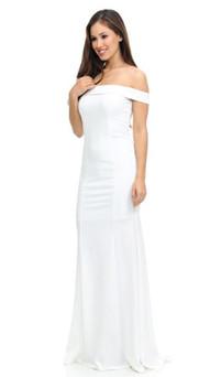 Stretch Jersey Off Shoulder Formal Gown Style ES223 - IMAGE 1