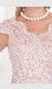 light mauve modest lace & pearls red carpet gown style RC580 - Image 2