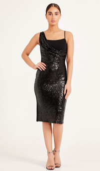 Classy little designer black midi dress - Image 1