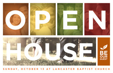 Open House Block Postcard