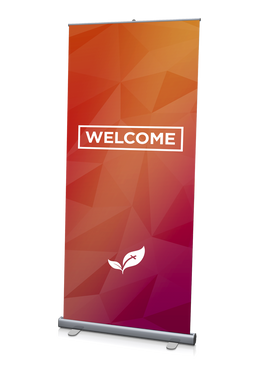Welcome Banner Red 3'x6.5'
