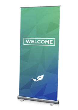 Welcome Banner Green 3'x6.5'