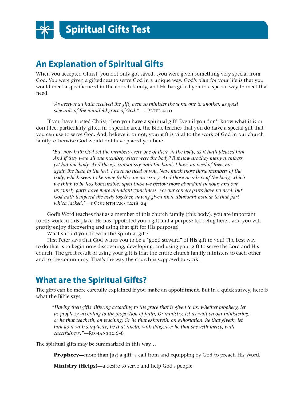 picture relating to Printable Spiritual Gifts Tests known as The reward of religion pdf