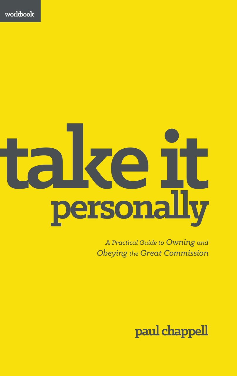 Take It Personally Workbook By Paul Chappell