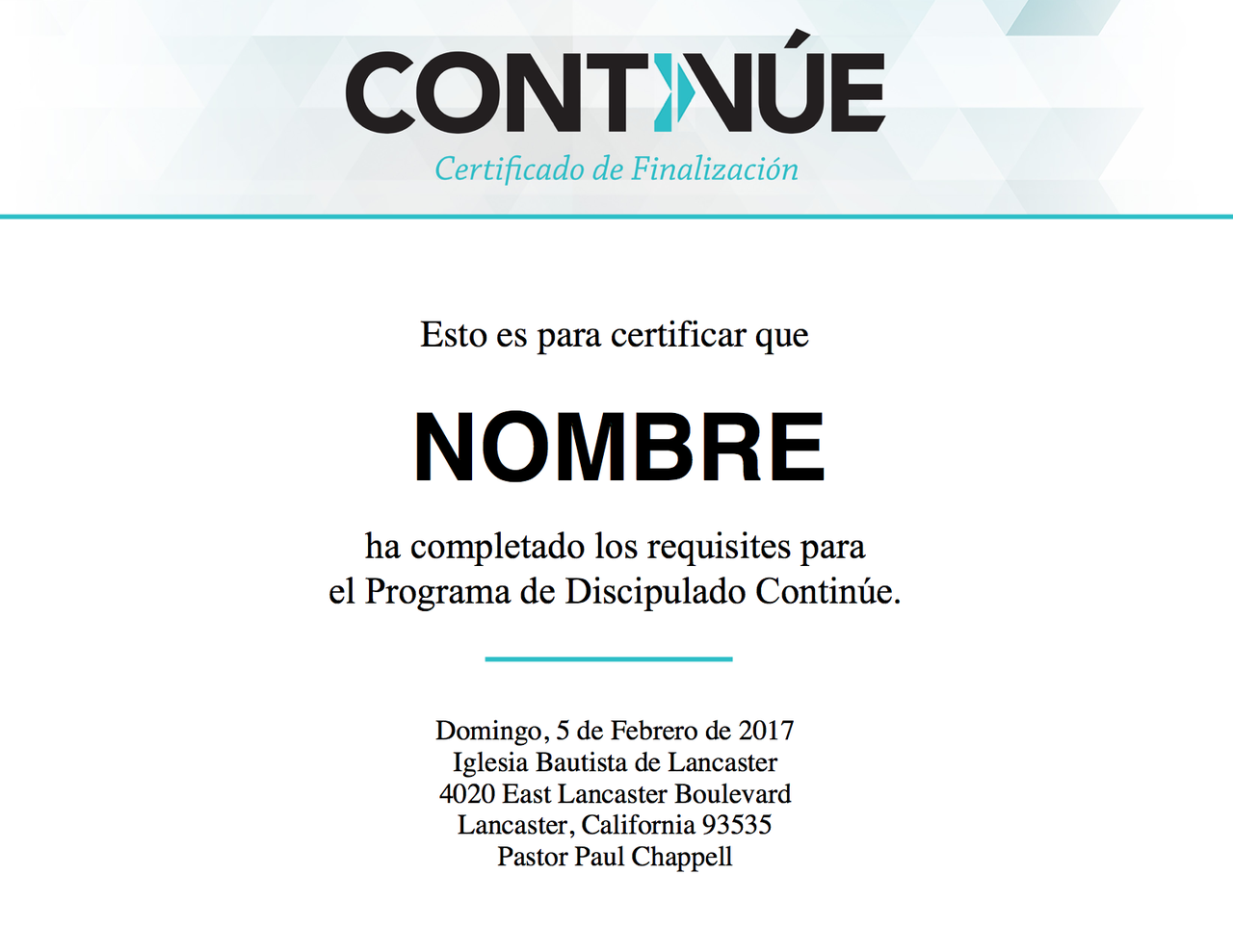 Continue Certificate In Spanish Striving Together Publications