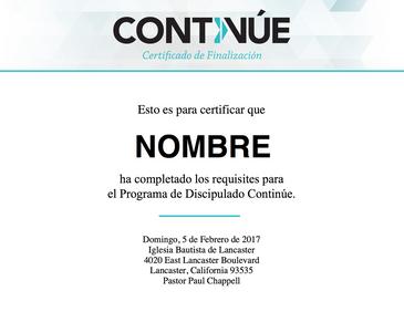 Continue Certificate in Spanish