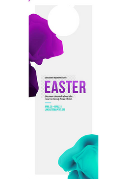 Easter— Purple & Blue 4x11