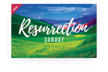 Resurrection Sunday Green Hills 3.5x5.5