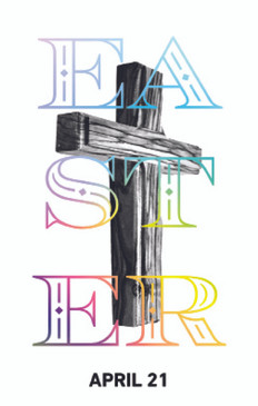 Easter Cross 3.5x5.5