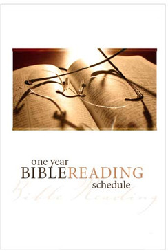 Bible Reading Schedule (English)—Pack of 100