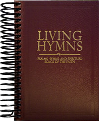 Living Hymns Large Print Piano Book Burgundy