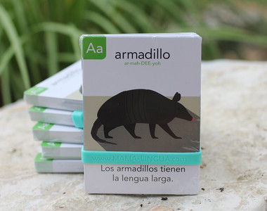Learn animals from A to Z in Spanish! Each card includes phonetics to help you pronounce each animal name correctly, as well as a fun animal fact, and the English translation on the flip side. Kids from ages 1-7 will enjoy this alphabet deck, as they learn to identify, pronounce, and read in Spanish on their own. Use our flashcards to play fun games alongside your kids and make language learning fun together!
