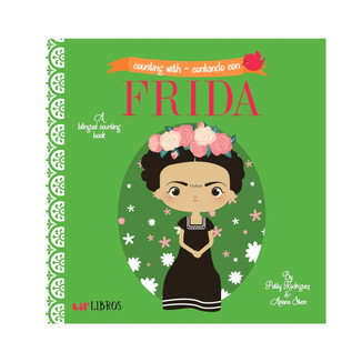 This bigraphical bilingual little libro will introduce your little to one to the life of Mexico's most iconic painters, Frida Kahlo , while teaching them their first numbers (1-10)...in English and Spanish!