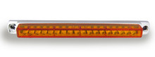 "6"" Amber LED Light Bar with Chrome Casing and Amber Lens"