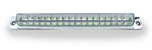"6"" Red LED Light Bar with Chrome Casing and Clear 'Euro' Lens"