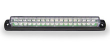 "6"" Red LED Light Bar with Black Casing and Clear 'Euro' Lens"
