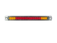"""6"""" Red/Amber [with Turn Signals] LED Light Bar with Chrome Casing and Clear 'Euro' Lens"""