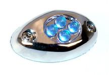 Courtesy LED Light POD with Chrome Case - Blue