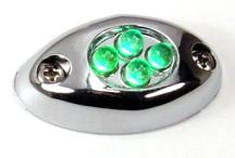 Courtesy LED Light POD with Chrome Case - Green