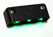 Step LED Light POD with Black Case - Green