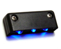 Step LED Light POD with Black Case - Blue