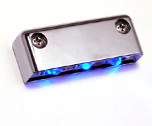 Step LED Light POD with Chrome Case - Blue