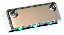 Step LED Light POD with Chrome Case - Green