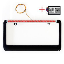 Black AYN AUTOMOTIVE License Plate Frame & Smart Module Combo