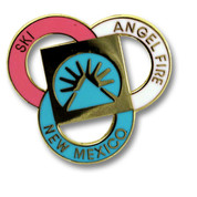 Angel Fire Pink Ski Resort Pin