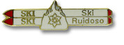 Ruidoso Double Skis Ski Resort Pin
