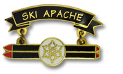 Ski Apache Double Skis Ski Resort Pin