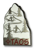 Taos Ski Slope Ski Resort Pin